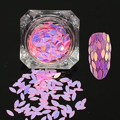 0.2g / sticla noua moda dulce stil de unghii art diy graceful paiete decorare sclipici cal ochi frunze paillette romantic design luciu
