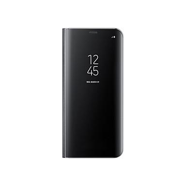 hoesje Voor Samsung Galaxy S8 Plus S8 met standaard Beplating Spiegel Auto Slapen/Ontwaken Volledig hoesje Effen Kleur Hard PU-nahka voor