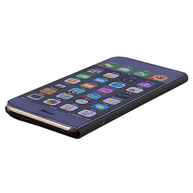Für iPhone X iPhone 8 Hüllen Cover mit Halterung Beschichtung Spiegel Flipbare Hülle Handyhülle für das ganze Handy Hülle Volltonfarbe