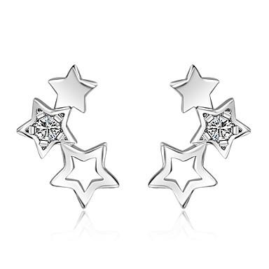 Pentru femei Αστέρι Ștras Cercei Stud - Modă stil minimalist Argintiu Αστέρι cercei Pentru Casual