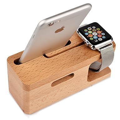 Teqi ceas stand pentru ceas de mere serie 2 iphone7 7lus 6s 6 lus 5 5c 5s 4 4s lemn 38mm / 42mm nu linie de date