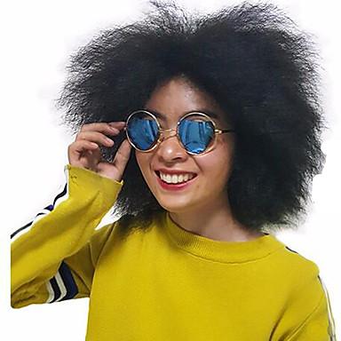 Synthetisch haar Pruiken Gekruld Natuurlijke haarlijn Zonder kap Natuurlijke pruik Kort Zwart