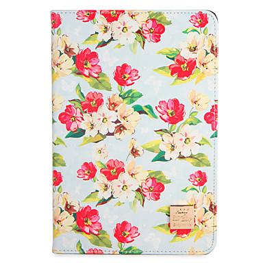 Hülle Für Apple iPad Mini 4 iPad Mini 3/2/1 mit Halterung Flipbare Hülle Muster Ganzkörper-Gehäuse Blume Hart PU-Leder für iPad Mini 4