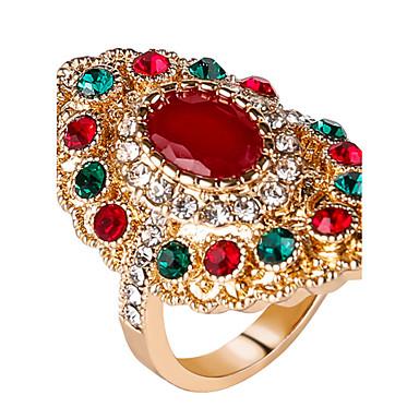 Pentru femei Inele Afirmatoare Inel Personalizat Lux Design Unic Vintage Modă Euramerican Bijuterii Statement Reșină Aliaj Rotund