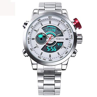 Heren Kwarts Digitaal Japanse quartz Digitaal horloge Polshorloge Militair horloge Sporthorloge Japans Waterbestendig LED Grote