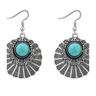 Damen Tropfen-Ohrringe Kreolen Schmuck Personalisiert Luxus Kreisförmiges Einzigartiges Design Logo Stil Klassisch Retro Böhmische