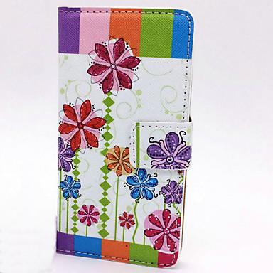 غطاء من أجل Samsung Galaxy حامل البطاقات محفظة مع حامل قلب نموذج غطاء كامل للجسم زهور قاسي جلد PU إلى S5