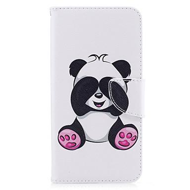 من أجل iPhone X إفون 8 أغط / كفرات حامل البطاقات محفظة مع حامل قلب نموذج كامل الجسم غطاء باندا قاسي جلد اصطناعي إلى Apple iPhone X iPhone