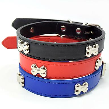 Hund Tragbar Solide Knochen Nylon Rot Blau Schwarz
