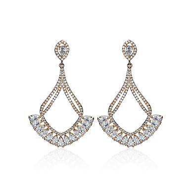 Dames Druppel oorbellen Zirkonia Religieuze sieraden Luxe Vintage Opvallende sieraden Gesneden zijdelings Euramerican Ruusukulta Zirkonia