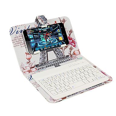 Hülle Für Apple iPhone 7 Plus iPhone 7 mit Halterung mit Tastatur Flipbare Hülle Muster Ganzkörper-Gehäuse Eiffelturm Hart PU-Leder für