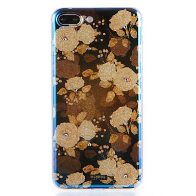 hoesje Voor Apple iPhone 7 Plus iPhone 7 Patroon Achterkant Bloem Zacht TPU voor iPhone 7 Plus iPhone 7 iPhone 6s Plus iPhone 6s iPhone 6
