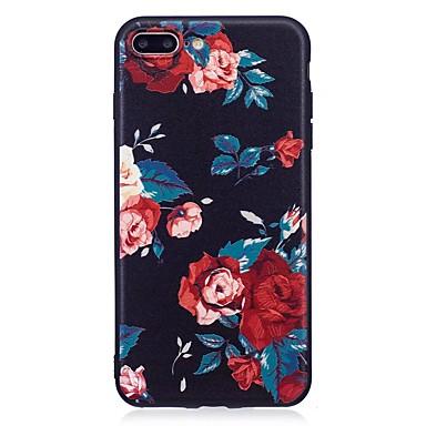 Voor iphone 7 plus 6 plus 6s zie 5s 5 case cover bloem patroon reliëf back cover soft tpu