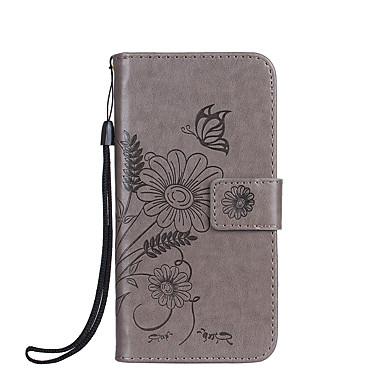 غطاء من أجل Samsung Galaxy S8 Plus S8 حامل البطاقات محفظة مع حامل قلب مطرز غطاء كامل للجسم فراشة زهور قاسي جلد PU إلى S8 Plus S8 S7 edge