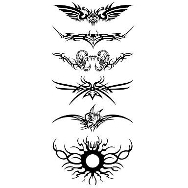 Acțibilde de Tatuaj Serie de totemuri Model Spate Zona De Jos WaterproofDame Bărbați Adolescent tatuaj flash Tatuaje temporare