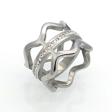 Heren Dames Bandringen Statementringen Ring Zirkonia Cirkelvormig ontwerp Uniek ontwerp Meetkundig Modieus Vintage Punk-stijl Inspirerend