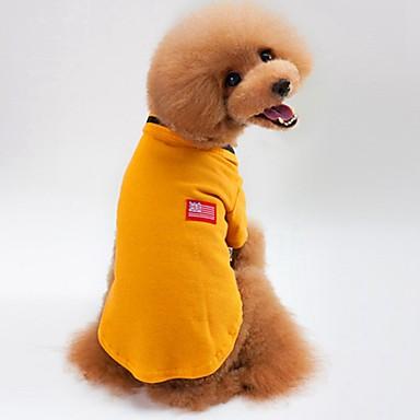 Kat Hond T-shirt Sweatshirt Hondenkleding Casual/Dagelijks Effen Grijs Geel Groen