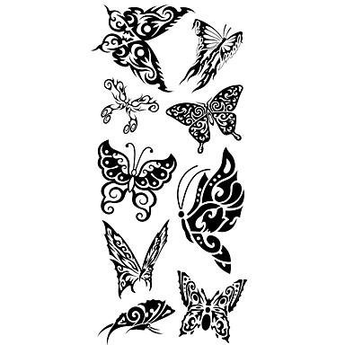 Tatoeagestickers Dieren Series Patroon Onderrrug WaterproofDames Heren Tiener Tijdelijke tatoeage Tijdelijke tatoeages
