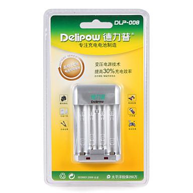 Delipow dlp-008 batterij snel oplader geschikt voor aa / aaa nikkel-metaal hydride nikkel-chroom oplaadbare batterij