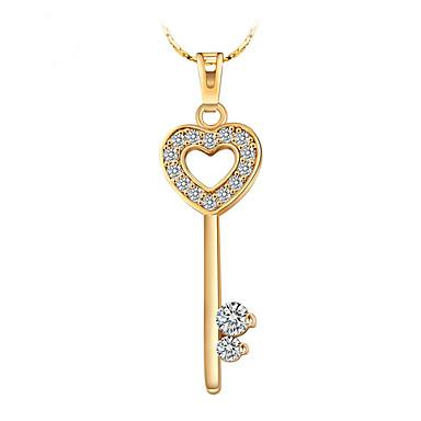 Damen Herz Liebe Personalisiert Luxus Einzigartiges Design Anhänger Stil Retro Liebe Herz Simple Style Anhängerketten Aleación