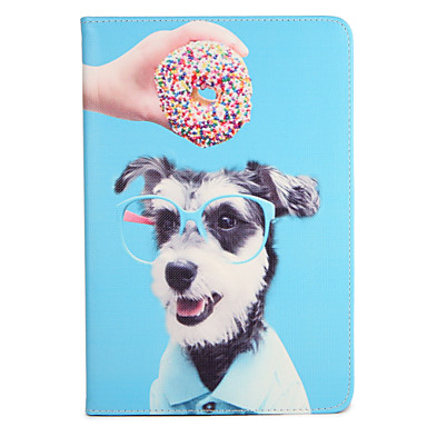 Pentru apple ipad (2017) pro 9.7 '' capac cu capac cu flip model carcasă plin corp câine hard pu piele aer 2 air ipad2 3 4