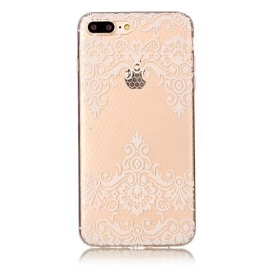 Für iphone 7 7 plus Fallabdeckung transparente Muster rückseitige Abdeckungsfallblume weiches tpu für iphone 6s 6 plus 6s 6 se 5s 5 5c
