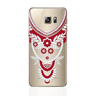 Hülle Für Samsung Galaxy S8 Plus S8 Transparent Muster Rückseitenabdeckung Lace Printing Weich TPU für S8 Plus S8 S7 edge S7 S6 edge plus