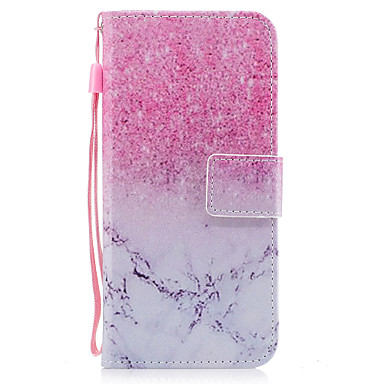 hoesje Voor Samsung Galaxy S8 Plus S8 Portemonnee Kaarthouder met standaard Flip Patroon Magnetisch Volledige behuizing Marmer Hard