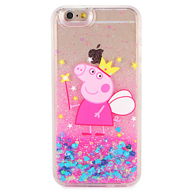 Case voor apple iphone 7 7 plus cartoon varken glitter shine patroon vloeibare harde pc 6s plus 6 plus 6s 6