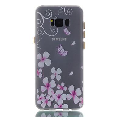 Maska Pentru Samsung Galaxy S8 Plus S8 Stralucire in intuneric Mătuit Model Carcasă Spate Fluture Floare Moale TPU pentru S8 S8 Plus S7