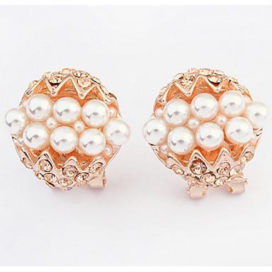 Damen Ohrstecker Tropfen-Ohrringe Kreolen Imitierte Perlen Personalisiert Religiöser Schmuck Einzigartiges Design Logo Stil Tier Design