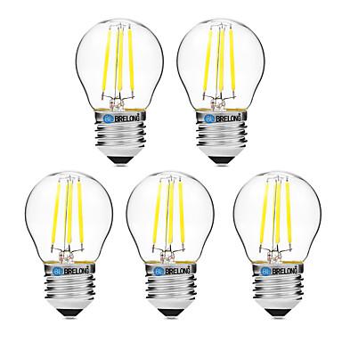 BRELONG® 5 Stück 4W 300 lm E27 LED Glühlampen G45 4 Leds COB Abblendbar Warmes Weiß Weiß Wechselstrom 200-240V