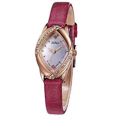 Dames Modieus horloge Japans Kwarts Waterbestendig Leer Band Informeel Zwart Wit Rood Bruin Roze