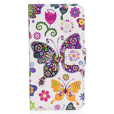 hoesje Voor Samsung Galaxy S8 Plus S8 Kaarthouder Portemonnee met standaard Flip Magnetisch Patroon Volledig hoesje Vlinder Hard PU-nahka