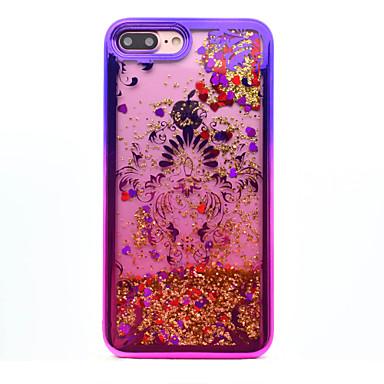 Voor iphone 7 plus 7 tpu materiaal plating laser carving quicksand telefoon hoesje 6s plus 6 plus 6s 6 se 5s 5