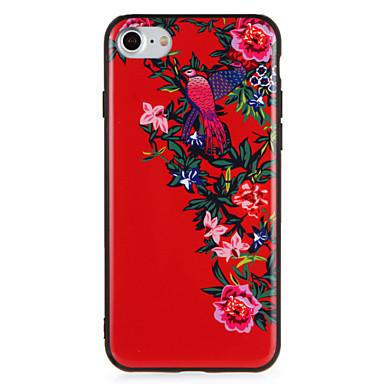 hoesje Voor Apple iPhone 7 Plus iPhone 7 Patroon Achterkant Bloem dier Hard PC voor iPhone 7 Plus iPhone 7 iPhone 6s Plus iPhone 6s