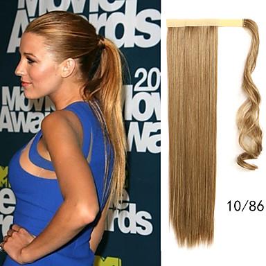 Klassisch Gerade Pferdeschwanz Gute Qualität Haarstück Haar-Verlängerung Medium Goldene Brown Medium Auburn Blonde Alltag