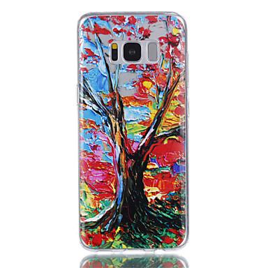Hülle Für Samsung Galaxy S8 Plus S8 Transparent Muster Rückseitenabdeckung Baum Weich TPU für S8 S8 Plus S7 edge S7 S6 S5