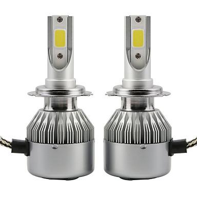 2pcs 36w led faruri cob c6 bulbi faruri auto h1 ip65 6000k alb lampă auto dc9-36v