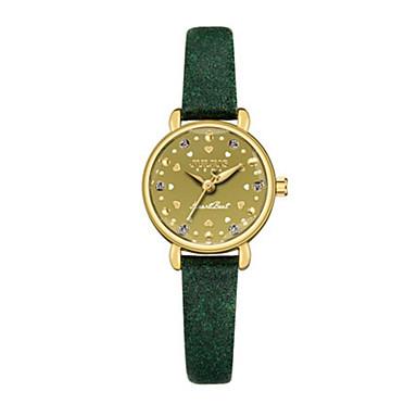 Damen Modeuhr Armband-Uhr Quartz Wasserdicht Leder Band Glanz Freizeit Schwarz Blau Braun Grün Khaki