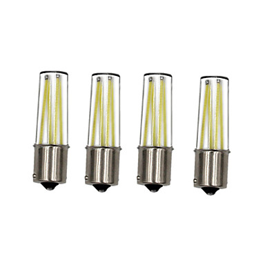 4pcs ®shenmeile 3w super energiebesparend ultra helder 350lm ba15s 1156 p21w led filament auto staart gloeilamp remlicht auto lamp lopende