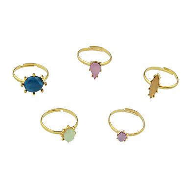 خاتم تصميم بسيط سبيكة مجوهرات إلى فضفاض مجموعة