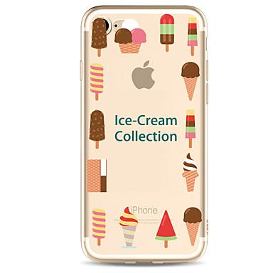 hoesje Voor Apple Transparant Patroon Achterkantje Voedsel Zacht TPU voor iPhone 7 Plus iPhone 7 iPhone 6s Plus iPhone 6 Plus iPhone 6s