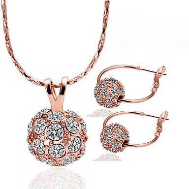 Pentru femei Seturi de bijuterii Design Unic Petrecere Zi de Naștere Zilnic Casual Ștras Placat Cu Aur Roz Minge
