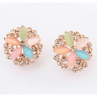 Dames Oorknopjes Druppel oorbellen Ring oorbellen Synthetische Opaal Bergkristal Gepersonaliseerde Bloemen Religieuze sieraden Uniek