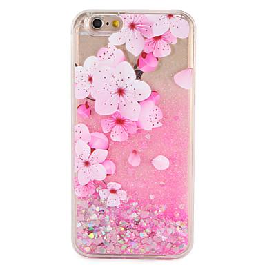 Case voor apple iphone 7 7 plus bloem glitter shine patroon vloeibare harde pc 6s plus 6 plus 6s 6