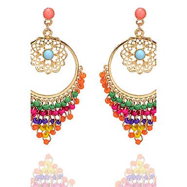 Damen Quaste Tropfen-Ohrringe - Personalisiert Kreisförmiges Anhänger Stil Quaste Klassisch Retro Böhmische Kreis Britisch Elegant