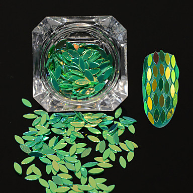0.2g / sticla nou de moda superb diy gratios paiete unghii art glitter cal ochi frunze paillette stralucitoare fulgi farmec decorare mb10
