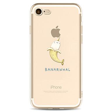 Hülle Für Apple iPhone 7 Plus iPhone 7 Transparent Muster Rückseite Cartoon Design Weich TPU für iPhone 7 Plus iPhone 7 iPhone 6s Plus