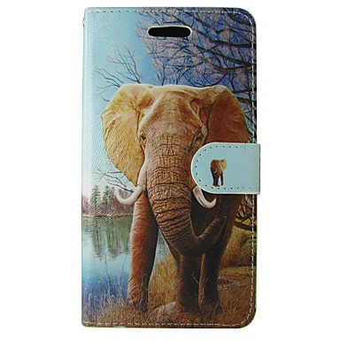 hoesje Voor Samsung Galaxy A5(2017) A3(2017) Portemonnee Kaarthouder met standaard Flip Volledige behuizing Olifant dier Cartoon Zacht